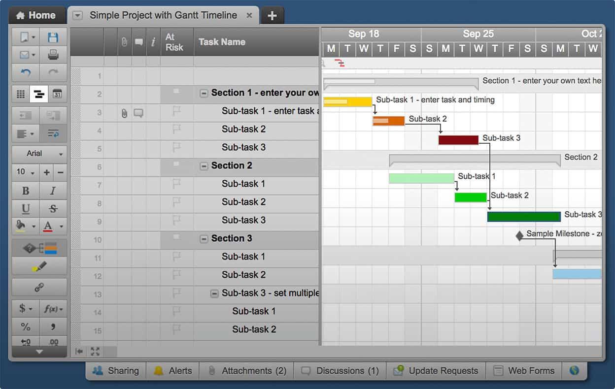 Smartsheet Gantt Chart View