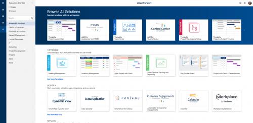 Browse Smartsheet Solutions