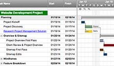 Web Project Gantt Dependencies Template